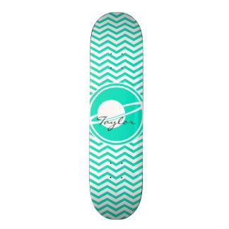Saturn Aqua Green Chevron Skateboards