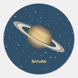 Saturn Classic Round Sticker