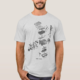 Saturn DOHC exploded T-Shirt