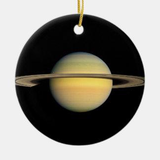 Saturn during Equinox Ceramic Ornament