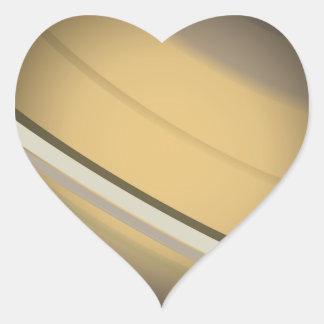 Saturn Heart Sticker