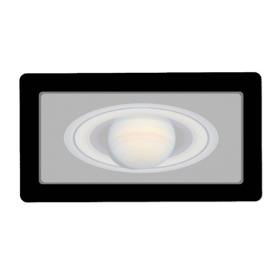Saturn (Hubble Telescope) Shipping Label