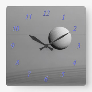 Saturn II Square Wall Clock