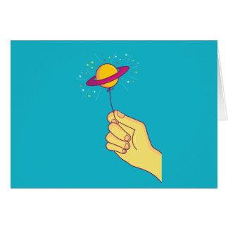 Saturn Lollipop Balloon Card