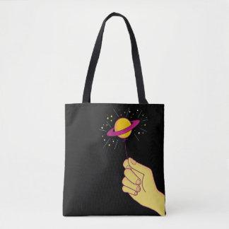 Saturn Lollipop Balloon Tote Bag