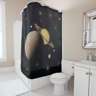 saturn montage shower curtain