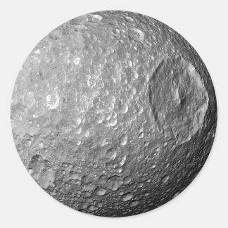 Saturn Moon Mimas Classic Round Sticker