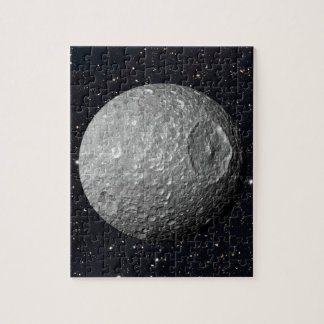 Saturn Moon Mimas Starry Sky Jigsaw Puzzle