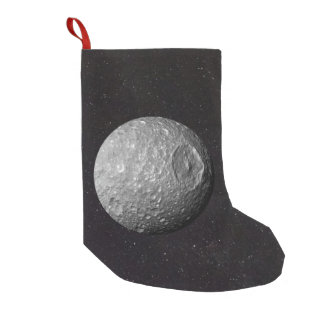 Saturn Moon Mimas Starry Sky Small Christmas Stocking
