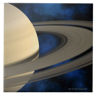 Saturn planet 2 ceramic tile