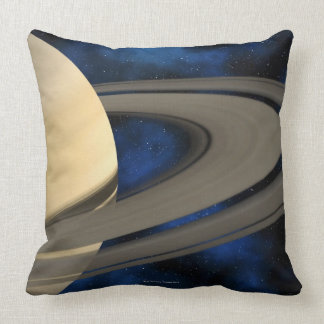 Saturn planet 2 throw pillow