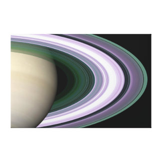 Saturn Planet beautiful rings NASA Canvas Print