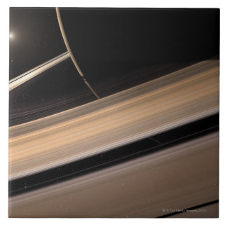 Saturn planet in solar system, close-up 3 large square tile
