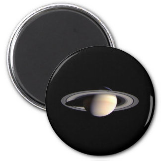 Saturn, Planet of the Solar System 6 Cm Round Magnet