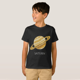 Saturn Planet Watercolor Kid's T T-Shirt