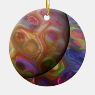 Saturn Rising Ceramic Ornament