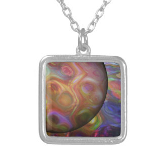 Saturn Rising Silver Plated Necklace