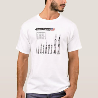 Saturn Rockets Illustration T-Shirt