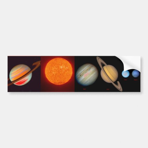 SATURN sun moons Bumper Stickers
