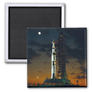 Saturn V Space Rocket Launch Magnet