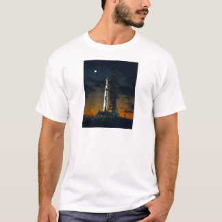 Saturn V Space Rocket Launch T-Shirt