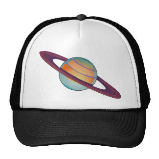 Saturn with Rings Trucker Hats