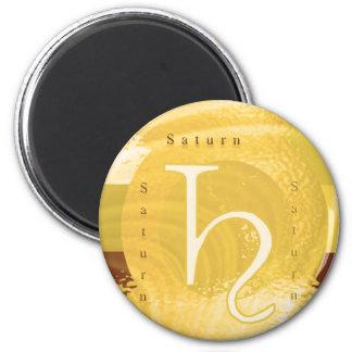 Saturn Zodiac Astrology Design 6 Cm Round Magnet