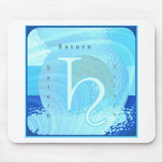 Saturn Zodiac Astrology Design Mouse Pad