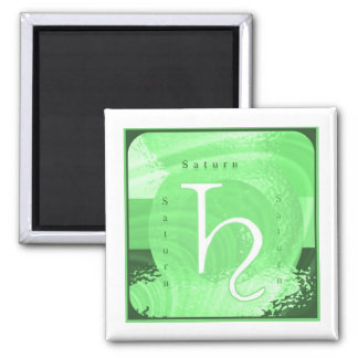Saturn Zodiac Astrology Design Square Magnet