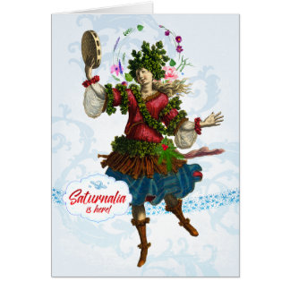 Saturnalia Bacchante Greeting Card
