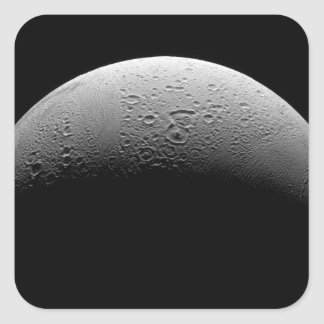 Saturn's moon Enceladus 5 Square Sticker