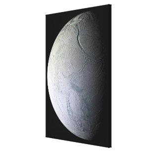 Saturn's moon Enceladus Canvas Print