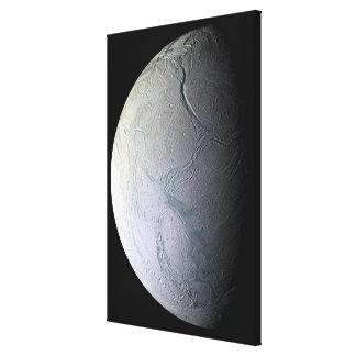 Saturn's moon Enceladus Canvas Print
