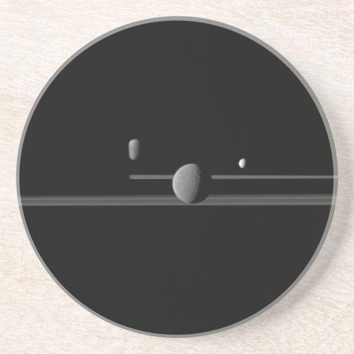 Saturn's Moons Sandstone Coaster