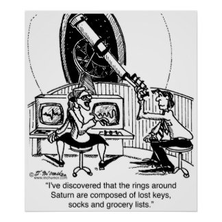 Saturn's Rings Are Lost Socks Poster