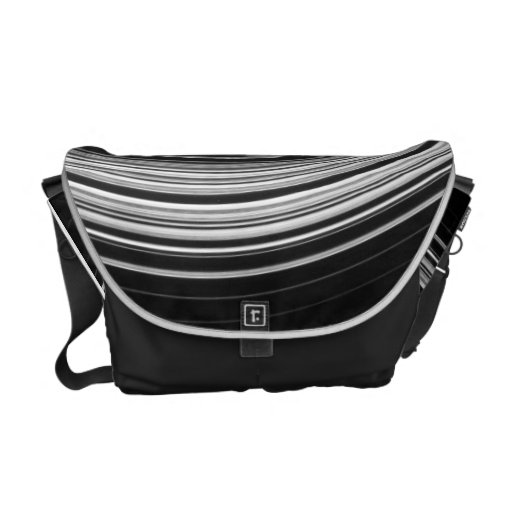 Saturn's Rings (Black and White) Courier Bag