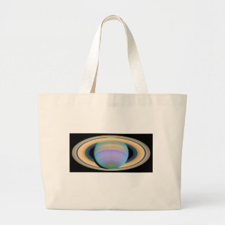 Saturn's Rings in Ultraviolet Light Jumbo Tote Bag