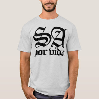 SATX POR VIDA 210 for Life Old English Black T-Shirt