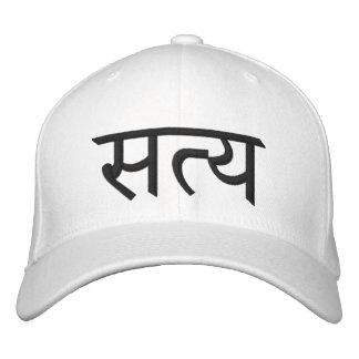 Satya (Truth) Yoga Hat Embroidered Baseball Caps