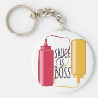 Sauce Is Boss Key Ring