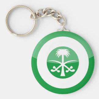saudi_arabia basic round button key ring