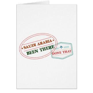 Saudi Arabia Been There Done That Card