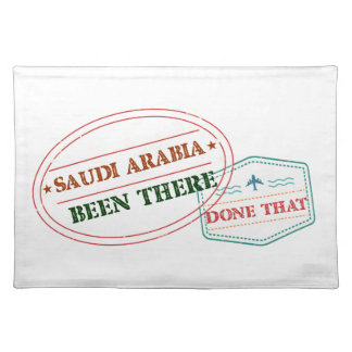Saudi Arabia Been There Done That Placemat