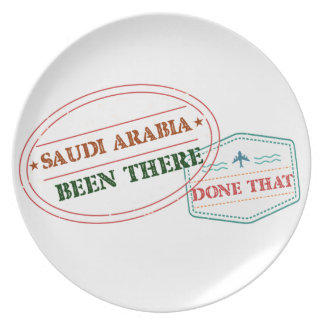 Saudi Arabia Been There Done That Plate