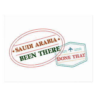 Saudi Arabia Been There Done That Postcard