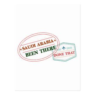 Saudi Arabia Been There Done That Postcard