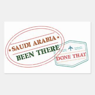 Saudi Arabia Been There Done That Rectangular Sticker
