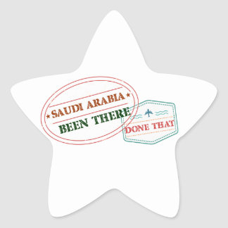 Saudi Arabia Been There Done That Star Sticker