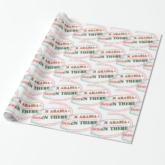 Saudi Arabia Been There Done That Wrapping Paper