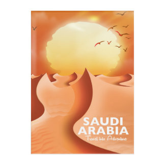 Saudi Arabia By Air travel poster Acrylic Print